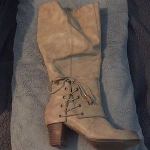 Torrid Knee High Boots w/ Lace-up Detail